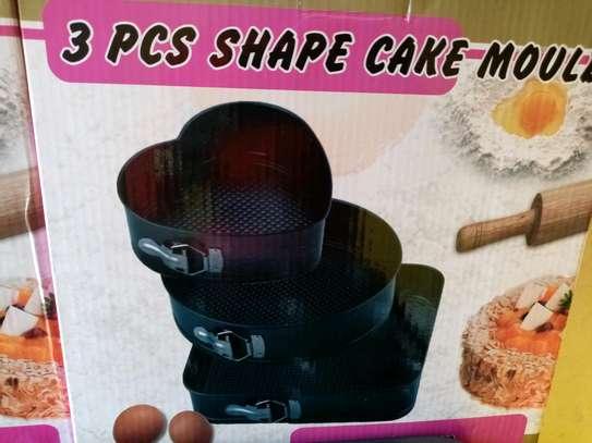 3 pcs baking cake tray image 1