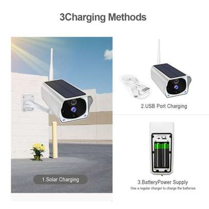 Smart Rechargeable Night Vision WiFi IP Solar Surveillance Outdoor HD 1080P Camera image 2