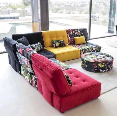 Multicolored fabrics sofas image 1