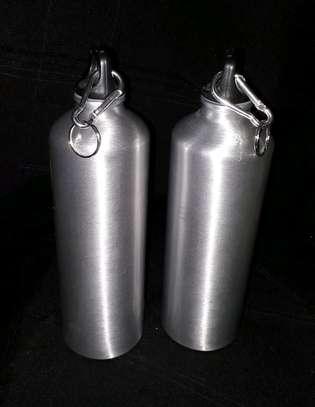 Water bottle/stainless steel/silver water bottle image 1