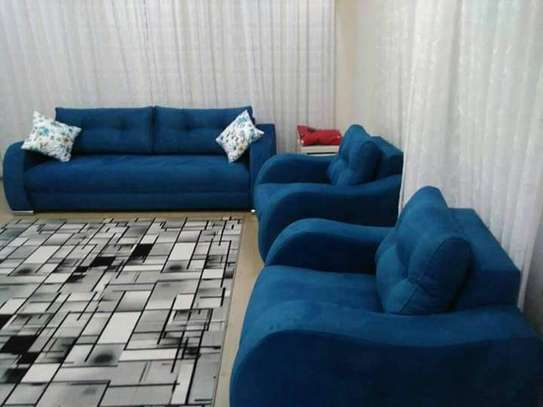 Blue 5 Seater  Couch