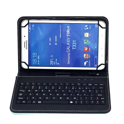 Universal Folding Leather Folio Case Cover Stand & Micro USB Keyboard for Samsung Tab S2 9.7 inches image 3
