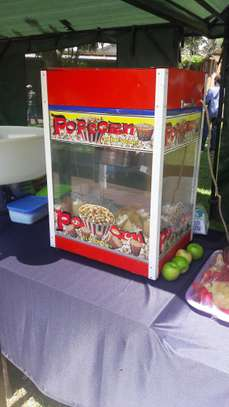 Popcorn machine,cotton candy,Ice cream machine for hire image 1