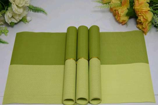 Table mat green checked 4pc image 1