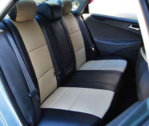 Car seat covers leather upholstery image 2