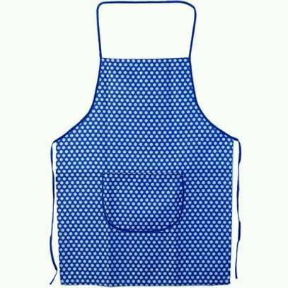 3pc dotted apron blue image 1