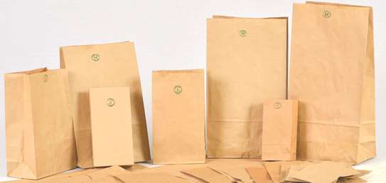 Brown Paper Khaki Bags for Packing & Storage image 1
