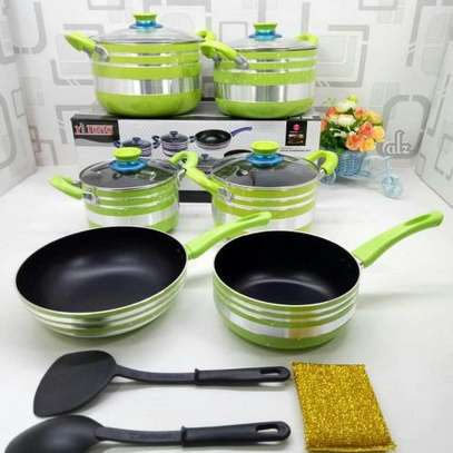 Yitong 13PCS Nonstick Cookware Set + Serving Spoons +Scouring Dish image 1