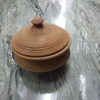 Clay Handmade Cooking Pot with Lid image 1