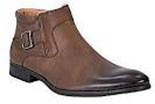 Brown Quality And Genuine Leather Official Men Shoes image 1