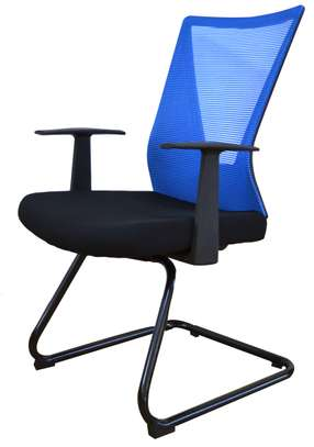 Blue Cantilever base boardroom chairs image 1