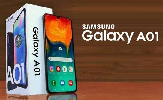 Samsung Galaxy A01, 5.7-inch, 16GB + 2GB RAM (Dual SIM), 13MP + 2MP Dual Camera, Black image 1