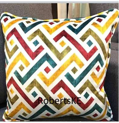 yellow and blue throw pillows image 1
