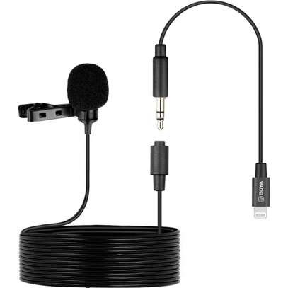 BOYA BY-M2 CLIP-ON LAVALIER LIGHTNING MICROPHONE FOR IOS image 1
