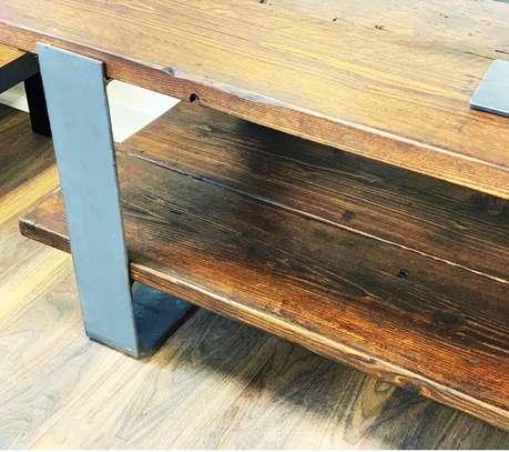 Stylish Metal and Wood TV stand image 2