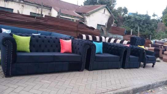 Elegant Classic Quality Chesterfield Ready Made 5 Seater Sofa+ Wingback chair image 1