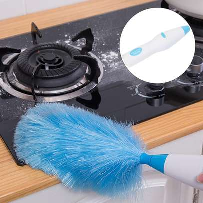 Hurricane Spin Duster Electric Feather Dirt Dust Brush image 4
