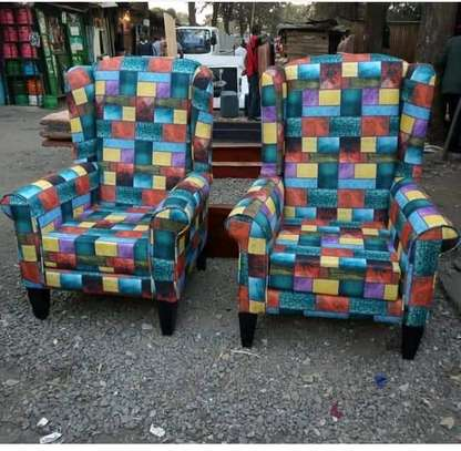 Wingback arm chairs image 1