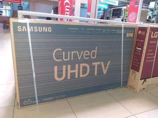 65 inch Samsung Smart Curved UHD 4K Televisions image 1