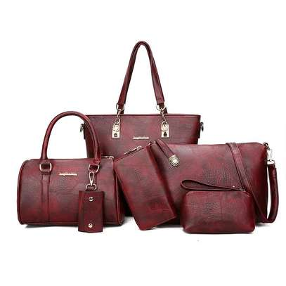 6in1 maroon handbags D image 1