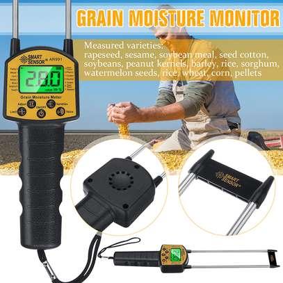 Ar991 Digital Grain Moisture Tester Corn Moist Meter Rice Humidity Analyser Water Damp Detector For Wheat Paddy Hygrometer image 1