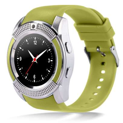 """V8 1.22"""" Round Screen MTK6261 IP65 Android Bluetooth Smart Watch With Sim card Toolkit - Black image 4"""