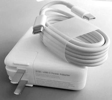 """A1718 61W USB-C Power Charger Adapter f/Apple MacBook PRO 13"""" 2M Cable"""