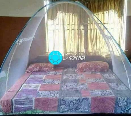 blue tent mosquito nets image 1