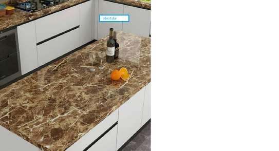 Elegant Marble Kitchen Contact paper design image 1
