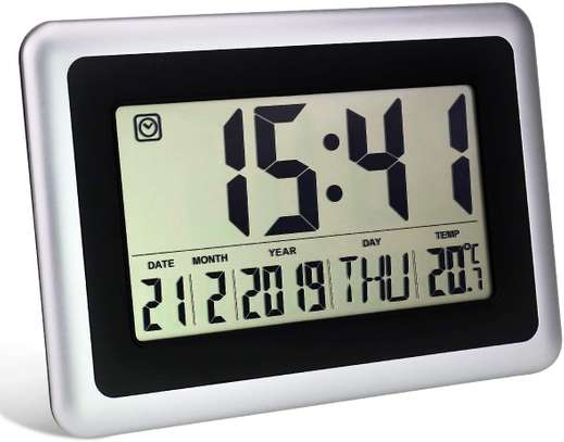 Digital LED Wall Clock With Alarm,Date,Temperature image 1