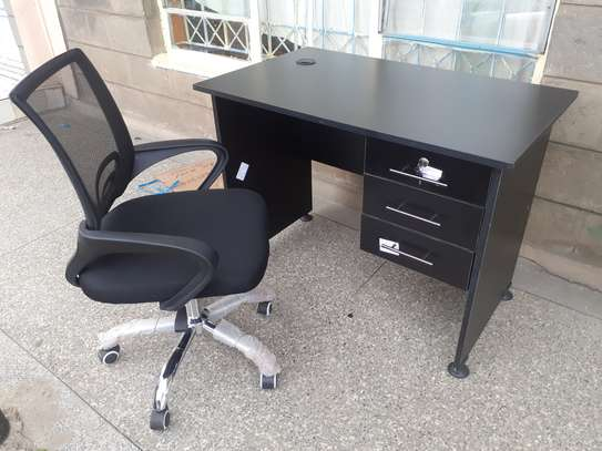 Office Desk 1Meter Black & Chair Ksh. 12,500.00 With Free Delivery image 9