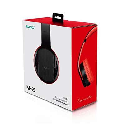 SODO MH2 Bluetooth Twist-out Speaker Headphones With NFC N Mic image 2