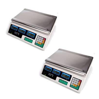88lb 40KG * 5G Digital Produce Price Food Scale Market Weight Meat White image 1