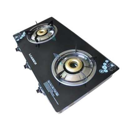 LEADDER Gas Stove Two Burners Cooker Tempered Glass Mask Easy Clean Low Gas Consumption GS-G201