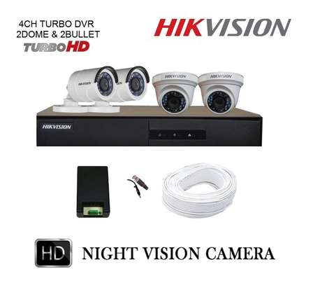 4 CCTV 720P CAMERA COMPLETE SET -(With Night Vision) image 1
