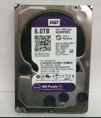 6TB Wd Surveillance Purple Hard Disk