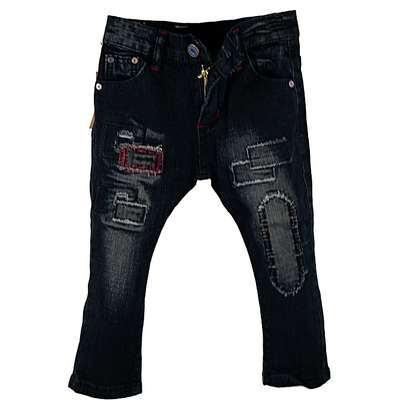 Jeans for Boys with Stylish Patches image 1