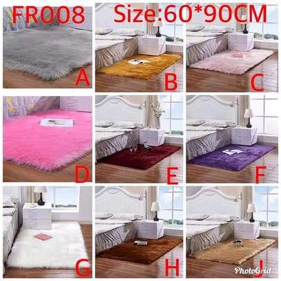 Bedside and floor fluffy carpets image 1