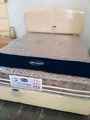 Complete Bedset With Bonnel Spring Mattress 10 inches thick.