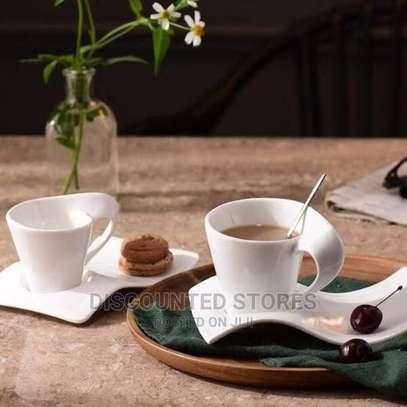 Porcelain Swag Cup+Saucer (Set of 6) image 2