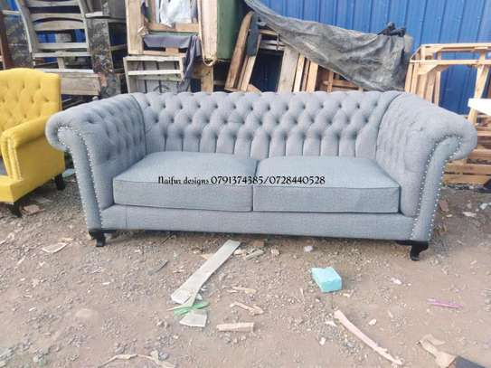 sofas/Modern three seater sofa/tufted sofa/tufted three seater sofa image 1