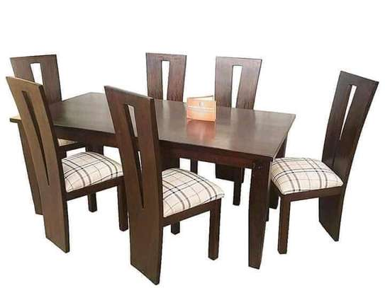 Beautiful Modern Quality Mahogany 6 Seater Dining Table image 1