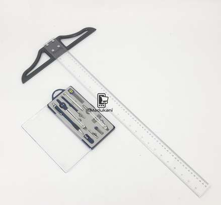 Technical Drawing Set and 60cm 24 inch T Square image 1