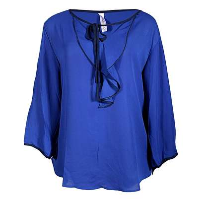 V Neck Long Sleeve Ladies Blouse Tops