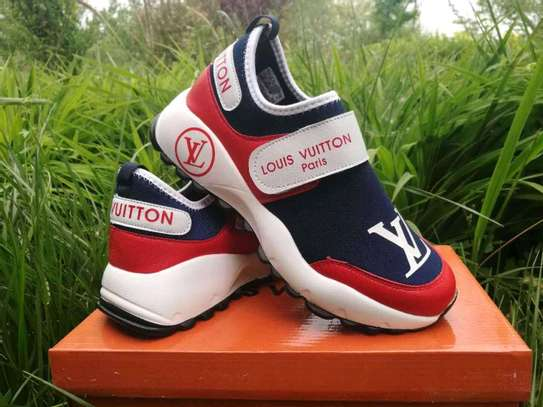 Blue red Lv sneakers image 1
