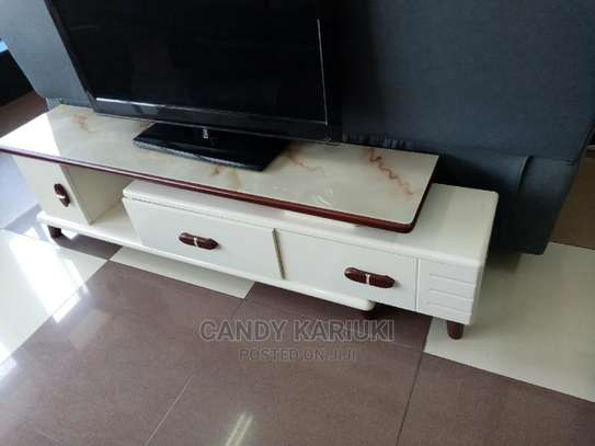 Extendable Glass Top TV Stand image 1