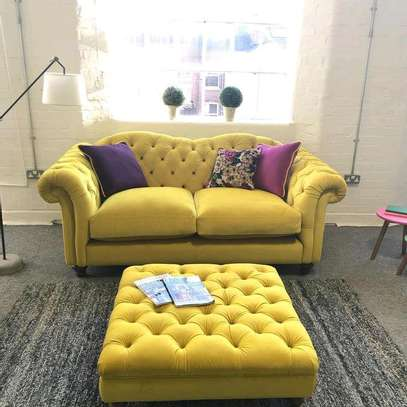 Complete set of sofas (three seater sofa+three seater sofa+two seater sofa+footrest puff)(3+3+2) image 2