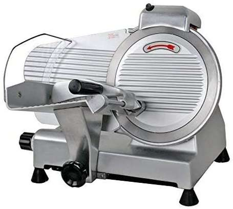 """10"""" Meat Slicer Semi-Auto Stainless Steel Cutter Cheese Food Electric Blade Kitchen Deli/Veggies for Commercial & Home image 1"""