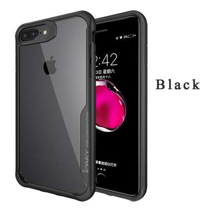 IPAKY Hybrid Shockproof Transparent Case for iPhone  7 7 Plus image 1
