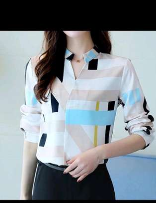 Ladies fancy chiffon blouses image 5